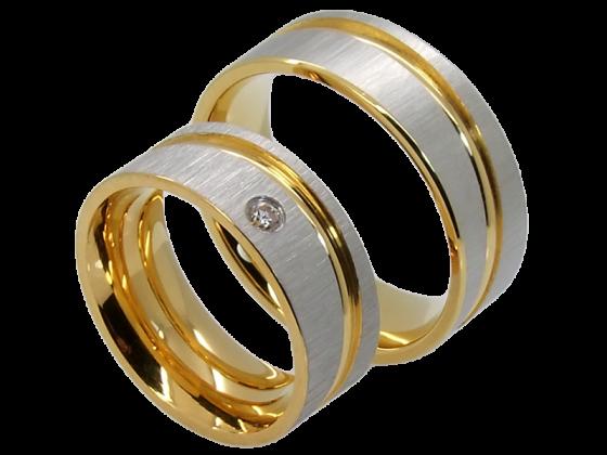 Modell Kathryn - 2 Ringe aus Edelstahl
