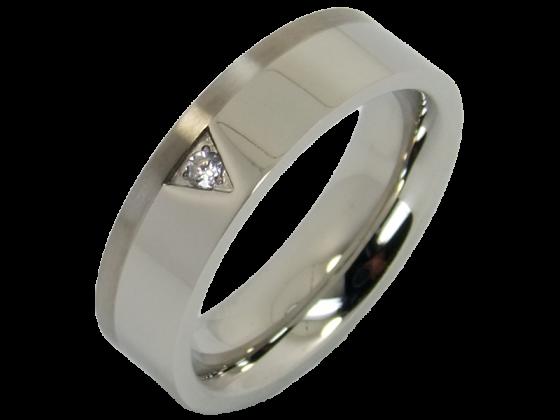 Modell Tiziano - 1 Ring aus Edelstahl & Titan