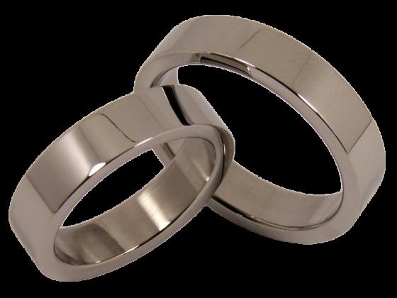 Modell Nick - 2 Ringe aus Edelstahl
