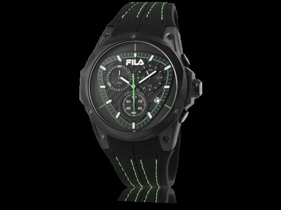 FILA Herrenuhr mit Silikonarmband schwarz&grün