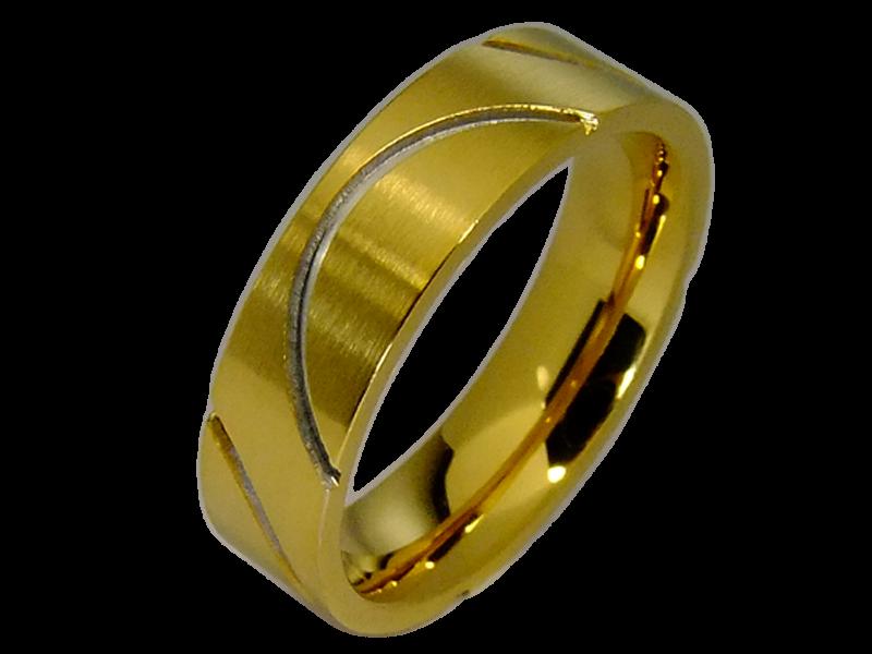 ringpaar aus edelstahl vergoldet mit zirkonia. Black Bedroom Furniture Sets. Home Design Ideas