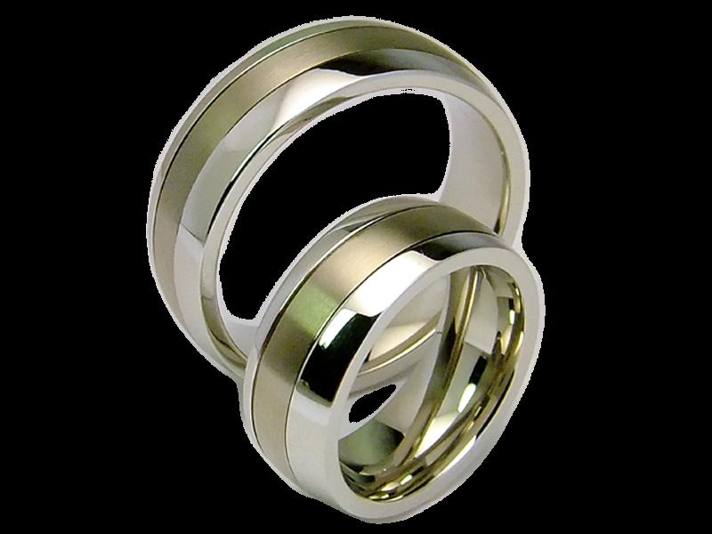 2 Ringe Aus Edelstahl Titan Hochzeitsringe