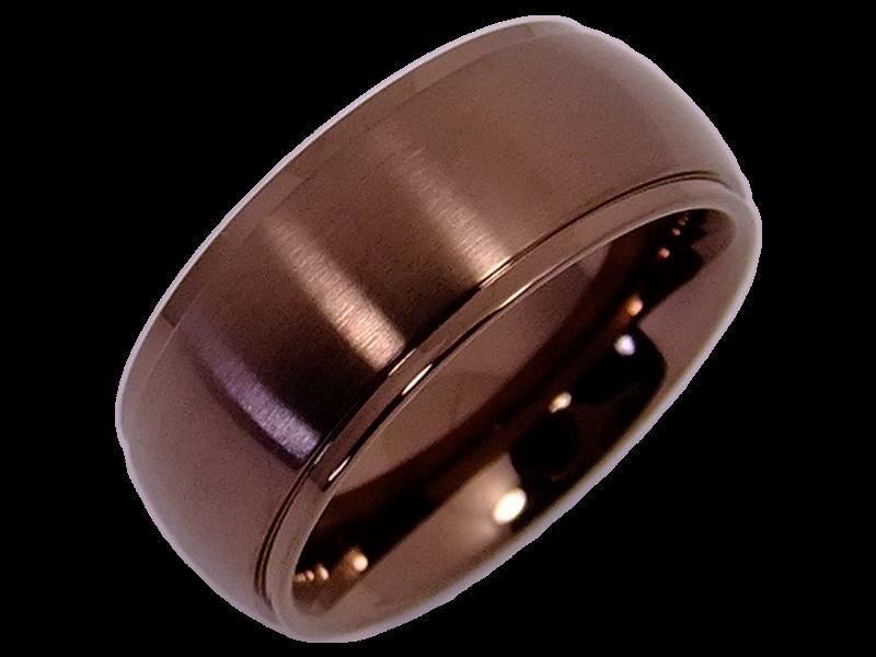 schicke ringe aus edelstahl im bronce look mit stein. Black Bedroom Furniture Sets. Home Design Ideas