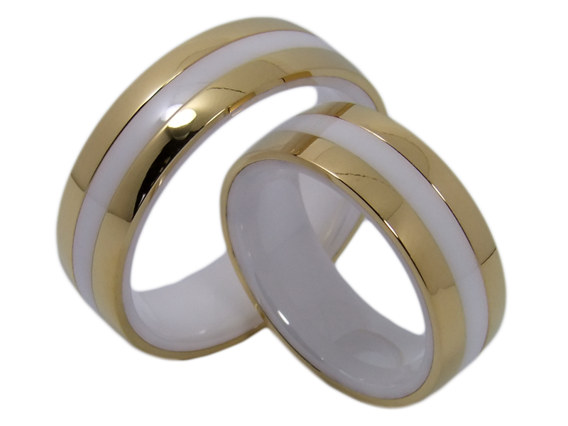 Clrarissa Couple Rings Ceramic And Stainless Steel