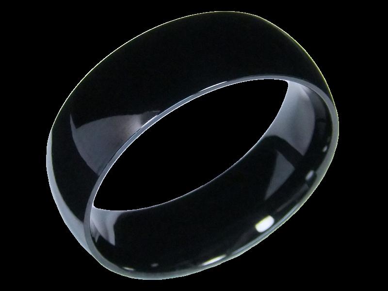 2 schwarze verlobungsringe edelstahl mit schmuckstein. Black Bedroom Furniture Sets. Home Design Ideas