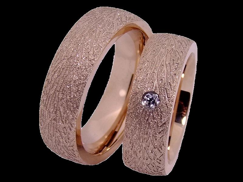 Rosevergoldete Ringe Aus Edelstahl Mit Stein
