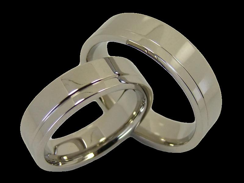 ringpaar aus edelstahl schlicht ohne stein. Black Bedroom Furniture Sets. Home Design Ideas