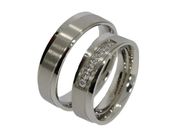 Modell Marika - 2 Ringe aus Edelstahl
