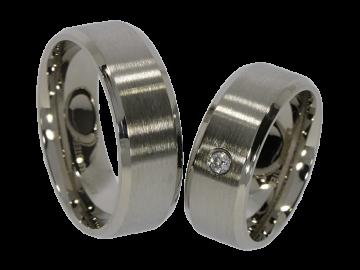 Modell Fiete - 2 Ringe aus Edelstahl