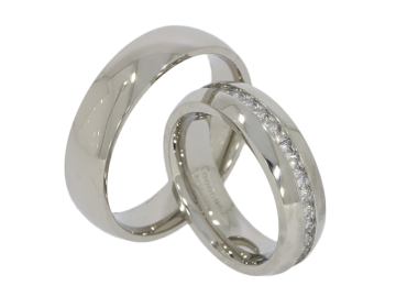 Modell Justus - 2 Ringe aus Edelstahl