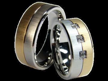 Modell Orion - 2 Ringe aus Edelstahl