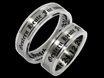 Modell Vincent - 2 Ringe aus Edelstahl