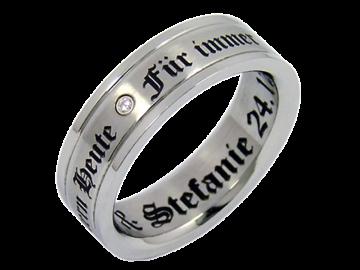 Modell Vincent - 1 Ring aus Edelstahl
