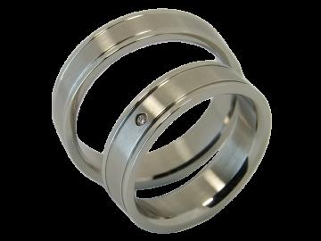 Modell Zahra - 2 Ringe aus Edelstahl