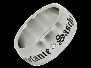 Modell Dave - 1 Ring aus Edelstahl