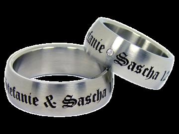 Modell Dave - 2 Ringe aus Edelstahl