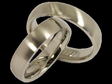 Modell Greethe - 2 Ringe aus Edelstahl
