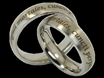 Modell Melissa - 2 Ringe aus Edelstahl