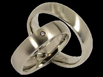 Modell Greethe - 2 Diamantringe aus Edelstahl