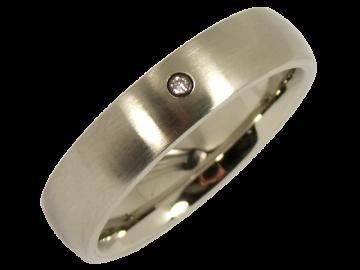 Modell Greethe - 1 Diamantring aus Edelstahl