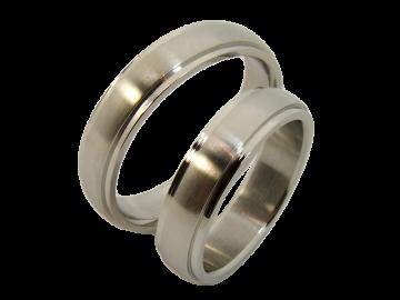 Modell Gustav - 2 Ringe aus Edelstahl