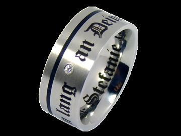 Modell Holly - 1 Ring aus Edelstahl