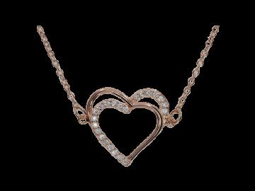 Armband rosè 925er Silber mit Herz