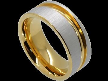 Modell Kathryn - 2 Diamantringe aus Edelstahl