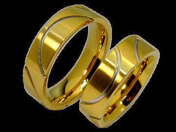 Modell Bridgette - 2 Ringe aus Edelstahl