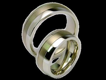 Modell Hero - 2 Ringe aus Edelstahl & Titan