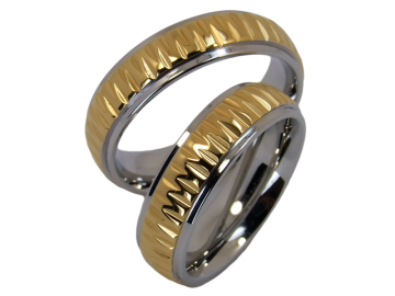 Modell Quendoline - 2 Ringe aus Edelstahl