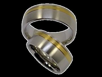 Modell Jennifer - 2 Verlobungsringe aus Edelstahl