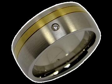 Modell Jennifer - 1 Diamantring aus Edelstahl