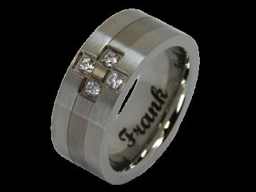 Modell Federico - 1 Ring aus Edelstahl & Titan