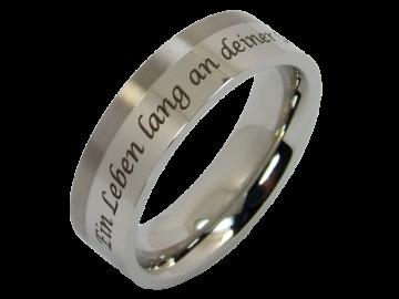 Modell Lotta - 1 Ring aus Edelstahl & Titan