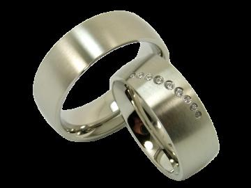 Modell Enrique - 2 Ringe aus Edelstahl