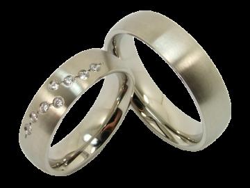 Modell Josephine - 2 Ringe aus Edelstahl