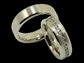 Modell Patrick - 2 Ringe aus Edelstahl