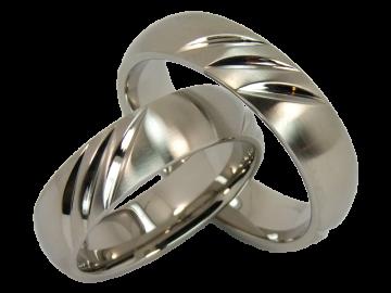 Modell Anna - 2 Verlobungsringe aus Edelstahl