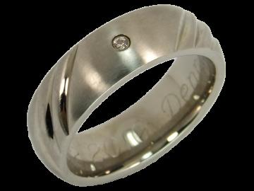 Modell Anna - 1 Diamantring aus Edelstahl