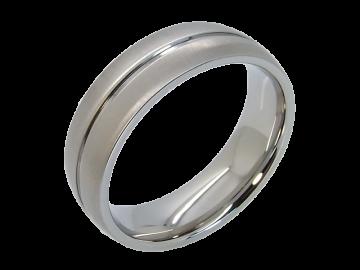 Modell Cedric - 2 Ringe aus Edelstahl