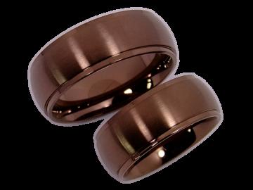 Modell Felicity - 2 Ringe aus Edelstahl