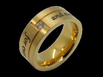 Modell Evelina - 1 Ring aus Edelstahl