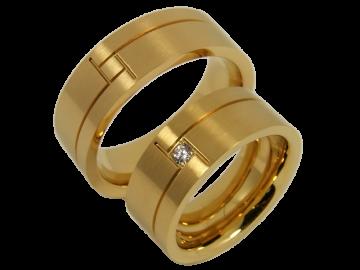 Modell Christine - 2 Ringe aus Edelstahl