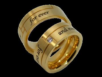 Modell Evelina - 2 Ringe aus Edelstahl