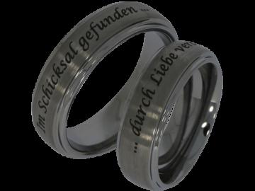 Modell George - 2 unisex Verlobungsringe aus Wolfram