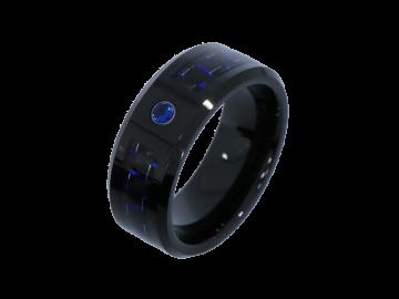 Modell Athena - 2 Hochzeitsringe aus Wolfram