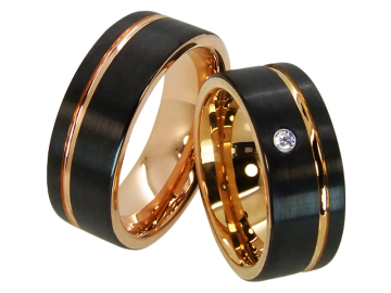 Model Grace - ring pair made of tungsten