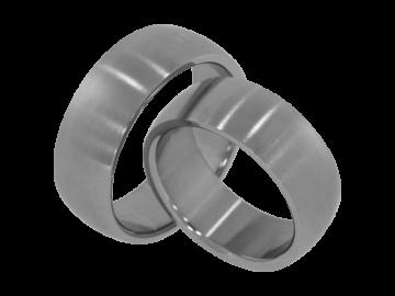 Modell David - 2 Ringe aus Edelstahl