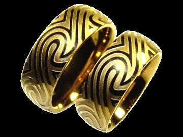 Modell Derek - 2 Ringe aus Edelstahl